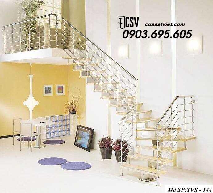 Mẫu cầu thang inox TVS 144