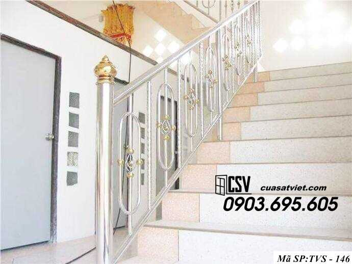 Mẫu cầu thang inox TVS 146
