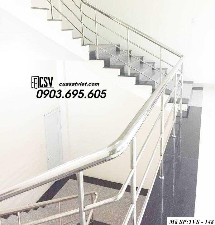 Mẫu cầu thang inox TVS 148
