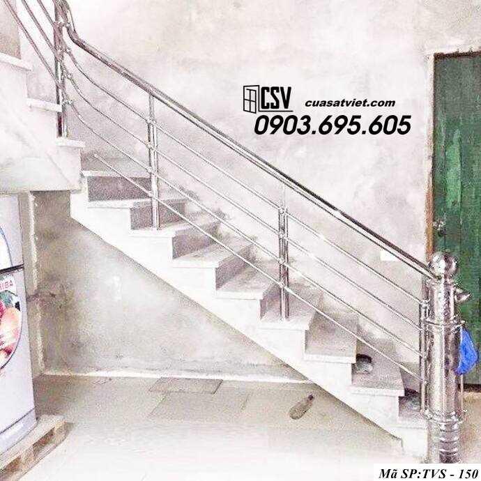 Mẫu cầu thang inox TVS 150