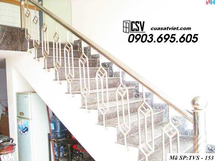 Mẫu cầu thang inox TVS 153