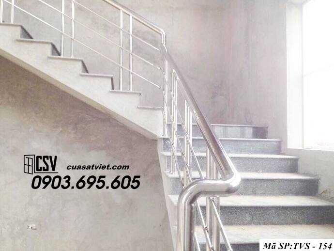 Mẫu cầu thang inox TVS 154