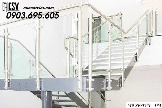 Mẫu cầu thang inox TVS 155