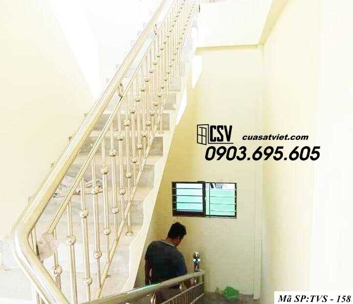 Mẫu cầu thang inox TVS 158