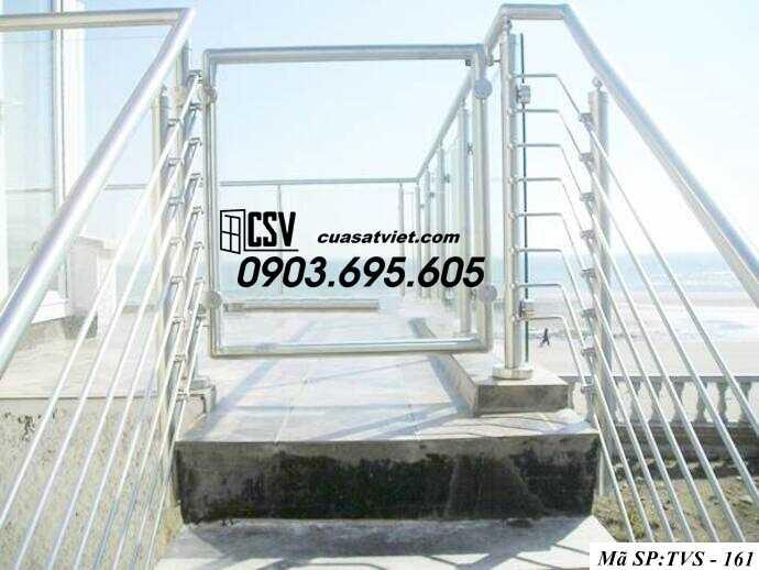 Mẫu cầu thang inox TVS 161