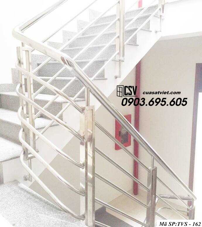 Mẫu cầu thang inox TVS 162
