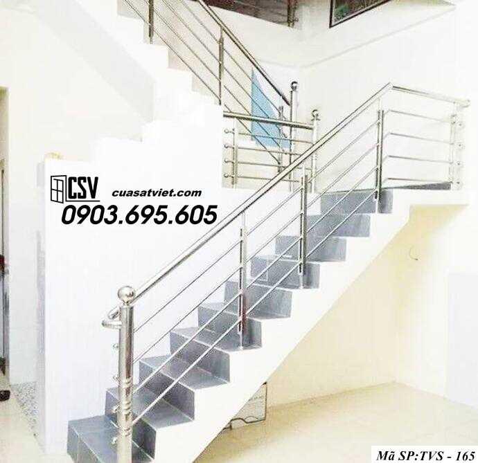 Mẫu cầu thang inox TVS 165