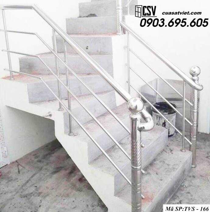 Mẫu cầu thang inox TVS 166