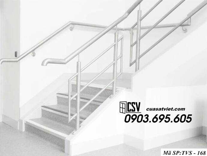 Mẫu cầu thang inox TVS 168