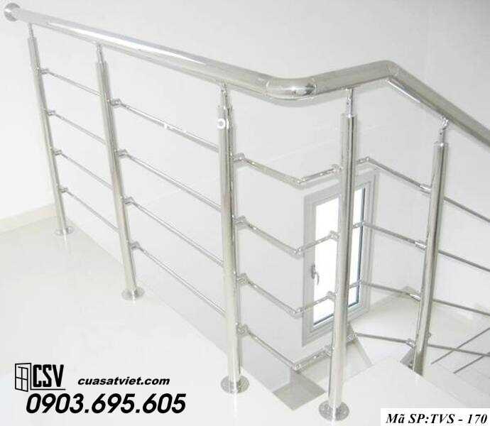 Mẫu cầu thang inox TVS 170