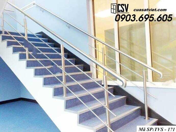 Mẫu cầu thang inox TVS 171